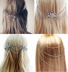 Back Piece Bridal Head Chains