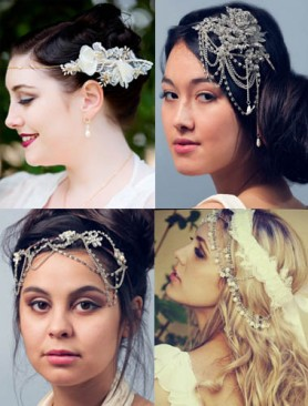 Unique Bridal Head Chains