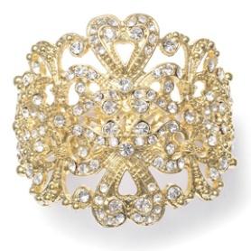 "Stunning Gold Cuff Bracelet ""Elena"""