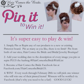 Hair Comes the Bride Pin It to Win It Contest