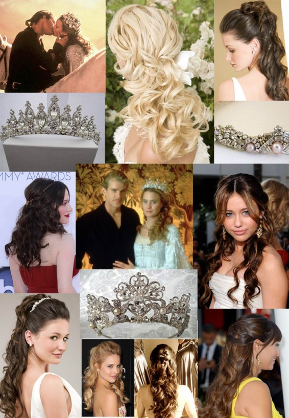 Princess Bride Hair Inspiration Board