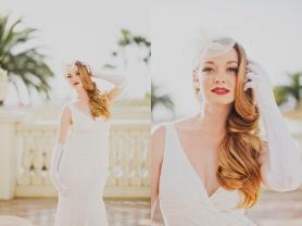 1940s Inspired Bridal Hair and Makeup
