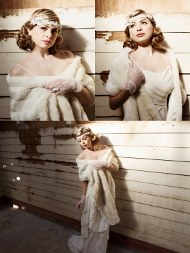 1930s Inspired Bridal Hair and Makeup
