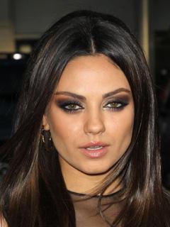 Mila Kunis Bridal Smokey Eyes